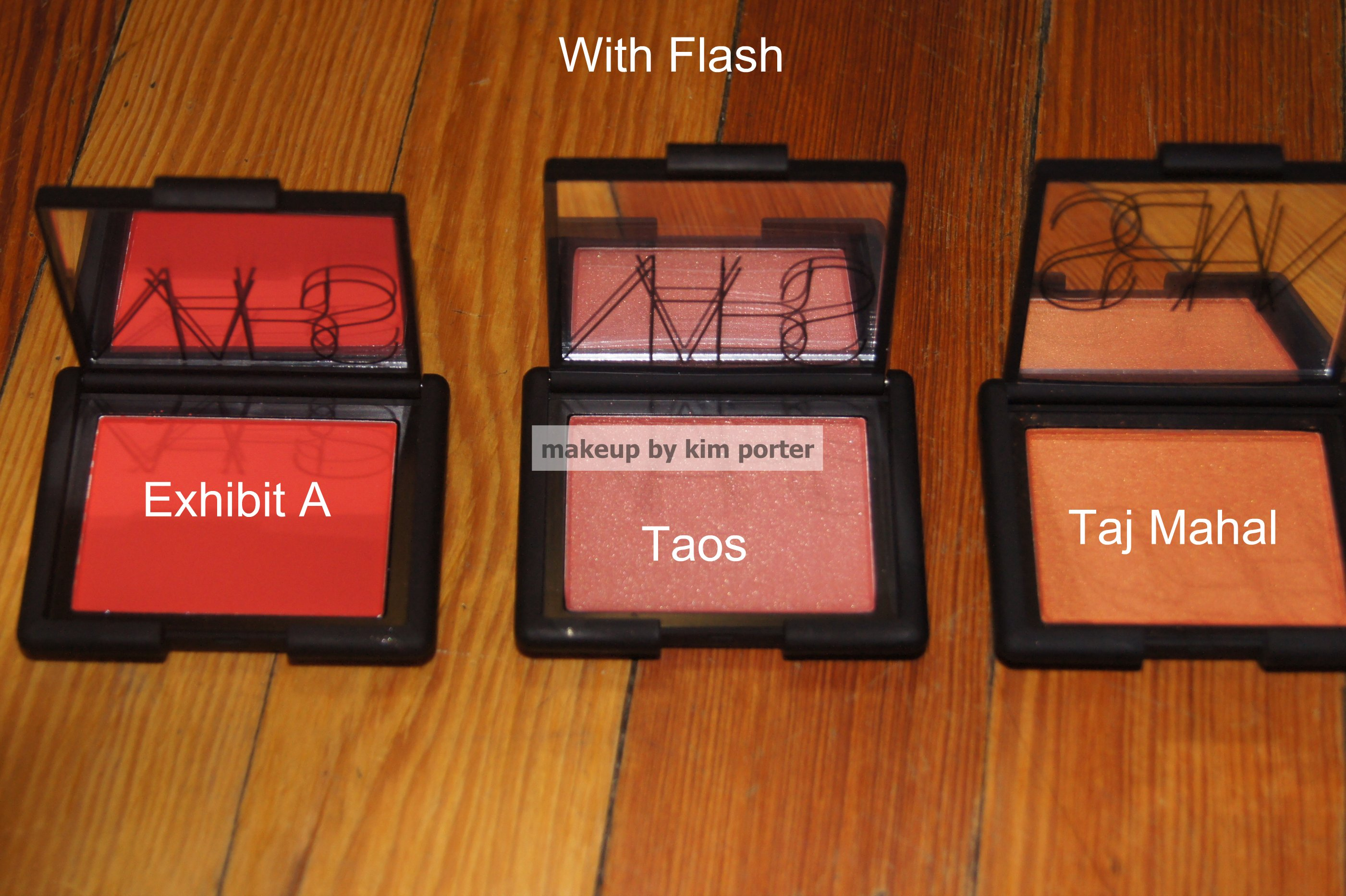 which are Exhibit A  Taos  Nars Exhibit A Swatch