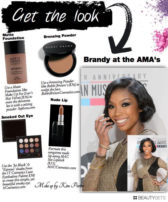 Brandy Smokey eye American Music Awards