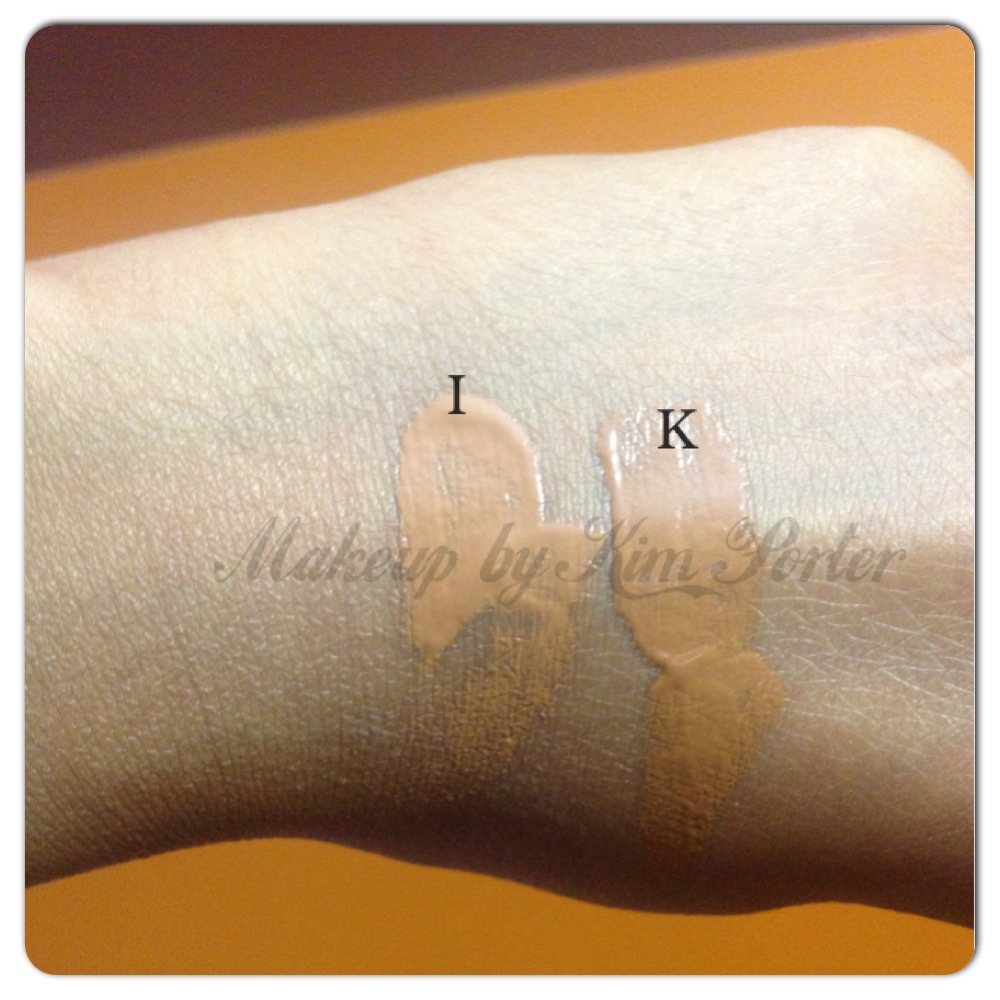 Stila Natural Finish Oil Free Foundation Swatches