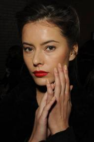 butter LONDON NYFW Backstage La Moss