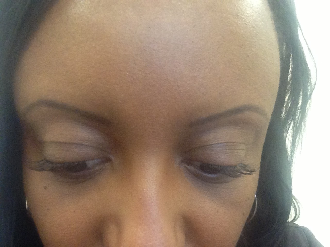 Eyebrows after Burnt Almond Oil Treatment