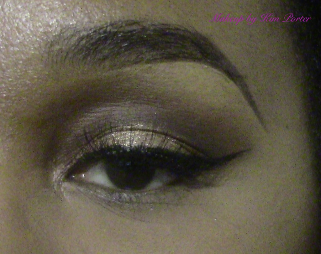 Festive Golden Glitter New Years Eve Makeup Eye 2