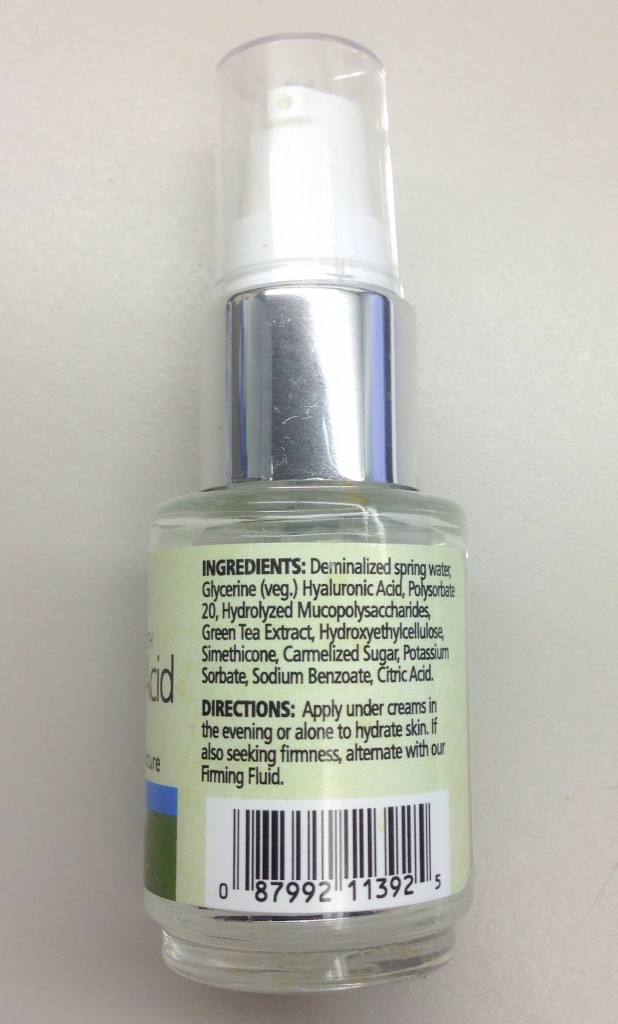 Reviva Labs Hyaluronic Acid Serum Back