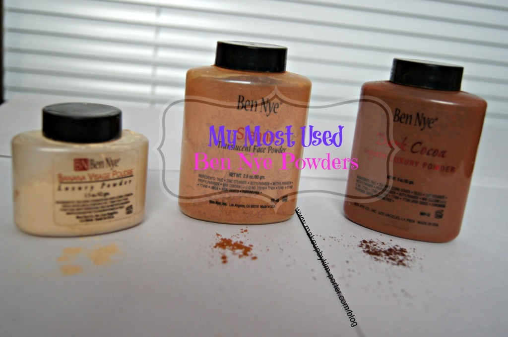 Most Used Ben Nye Powders