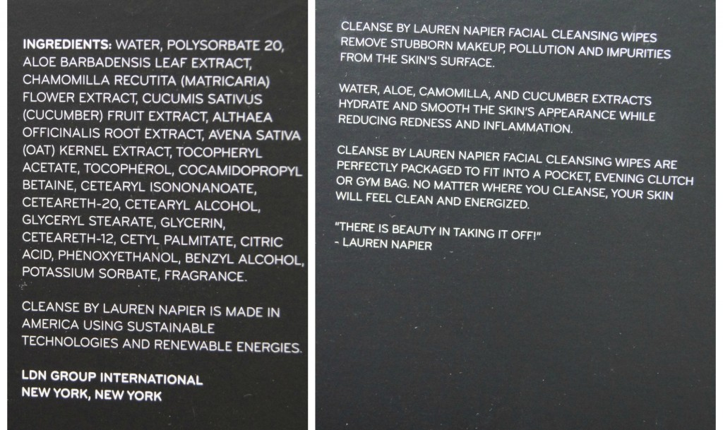 CLEANSE by Lauren Napier Ingredients