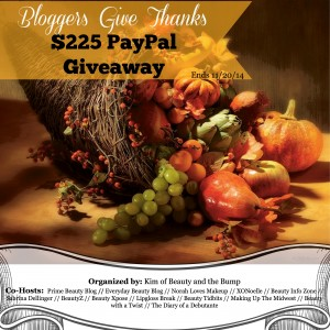 Bloggers Give Thanks PayPal Giveaway