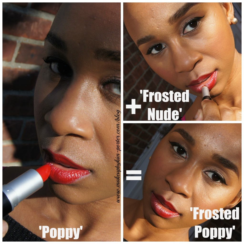 Holiday Lips MUA Makeup Academy Frosted Poppy