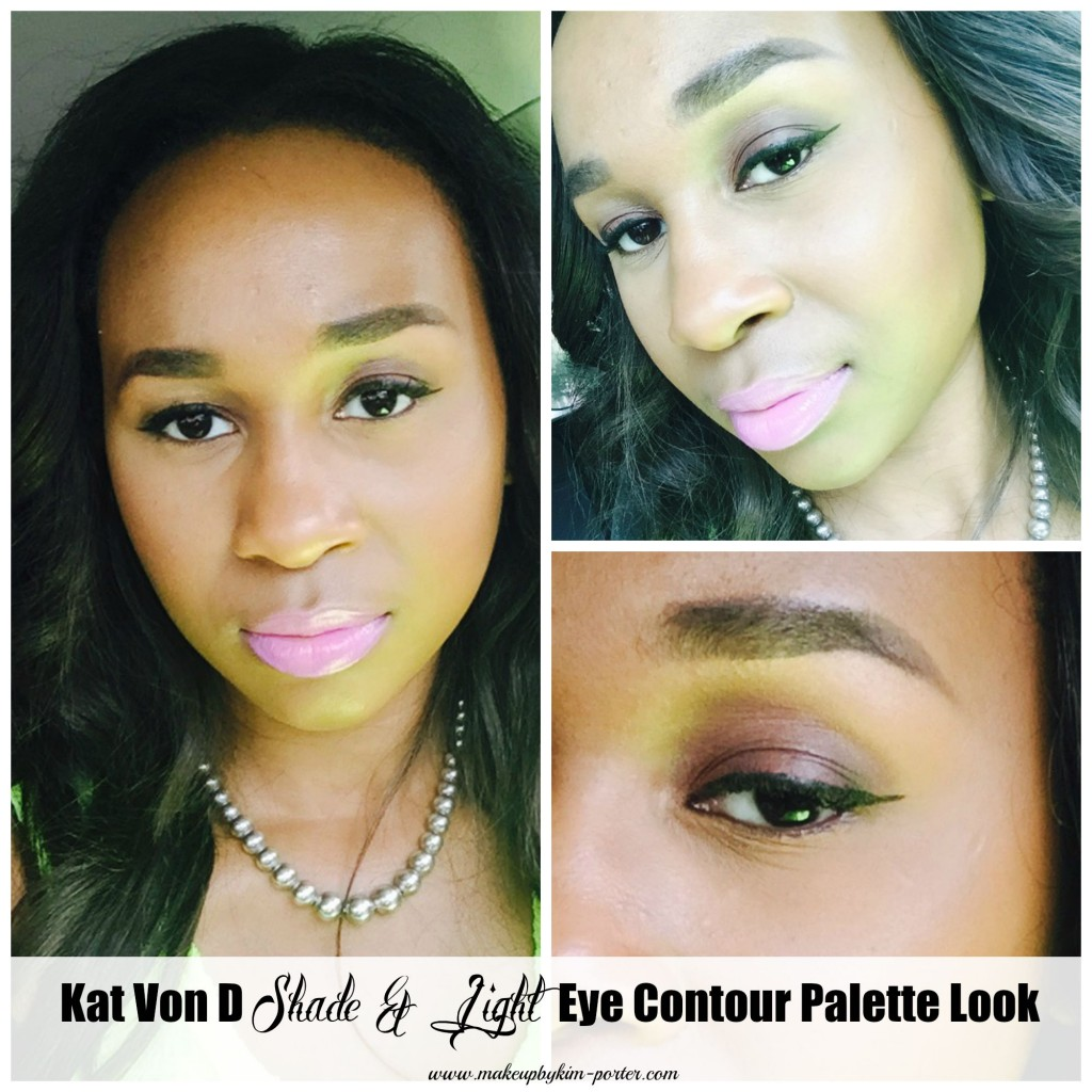 Kat Von D Shade and Light Eye Contour Palette Look