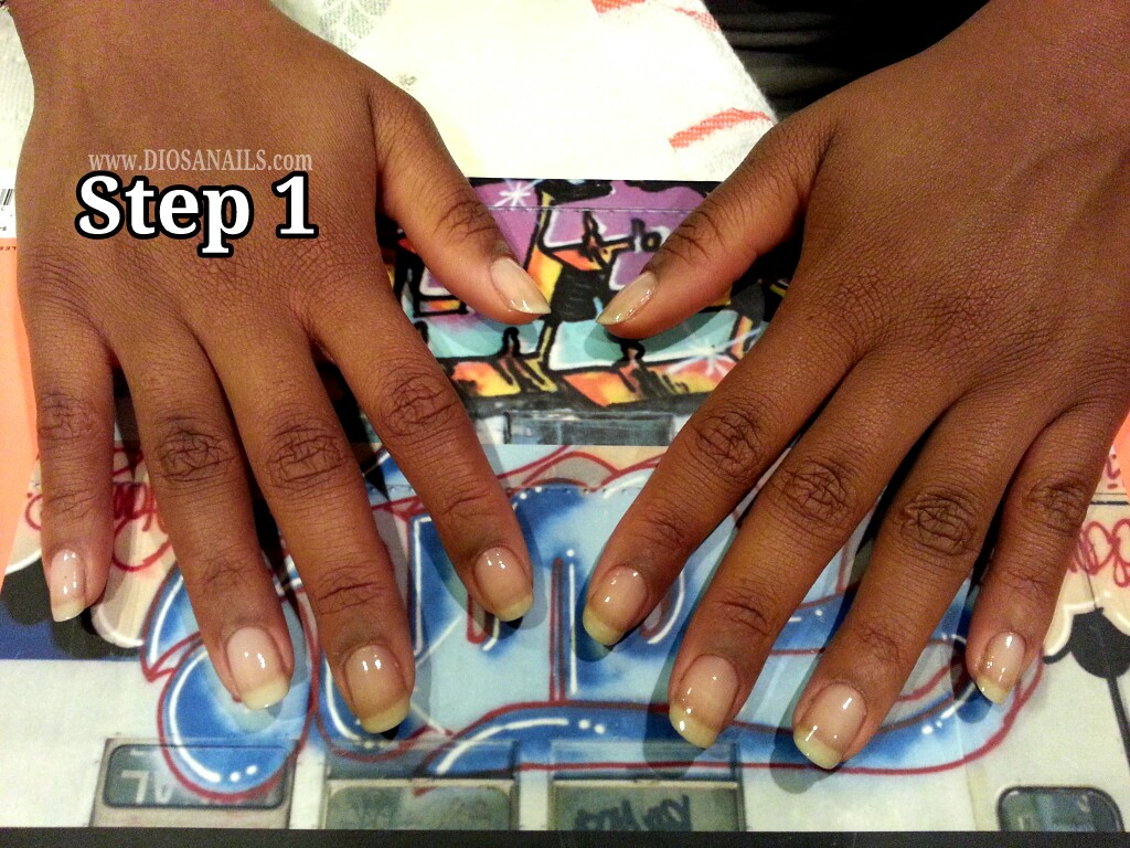 New Years Eve Party Nails Step 1