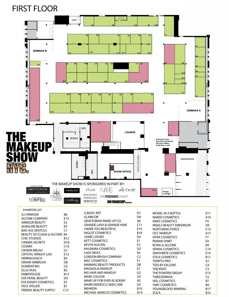 The Makeup Show NYC Floor Plan