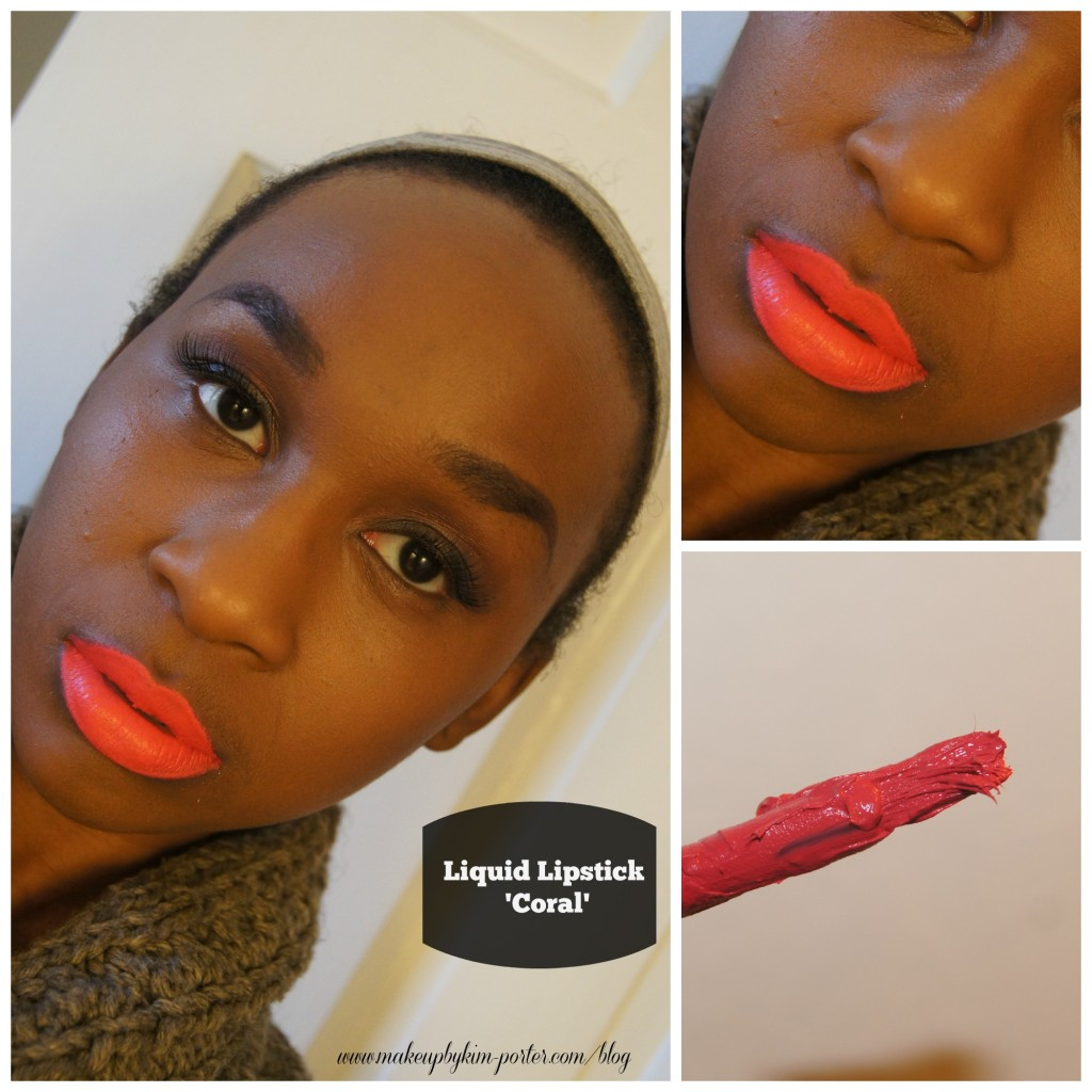 MUA Makeup Academy Liquid Lipstick Coral