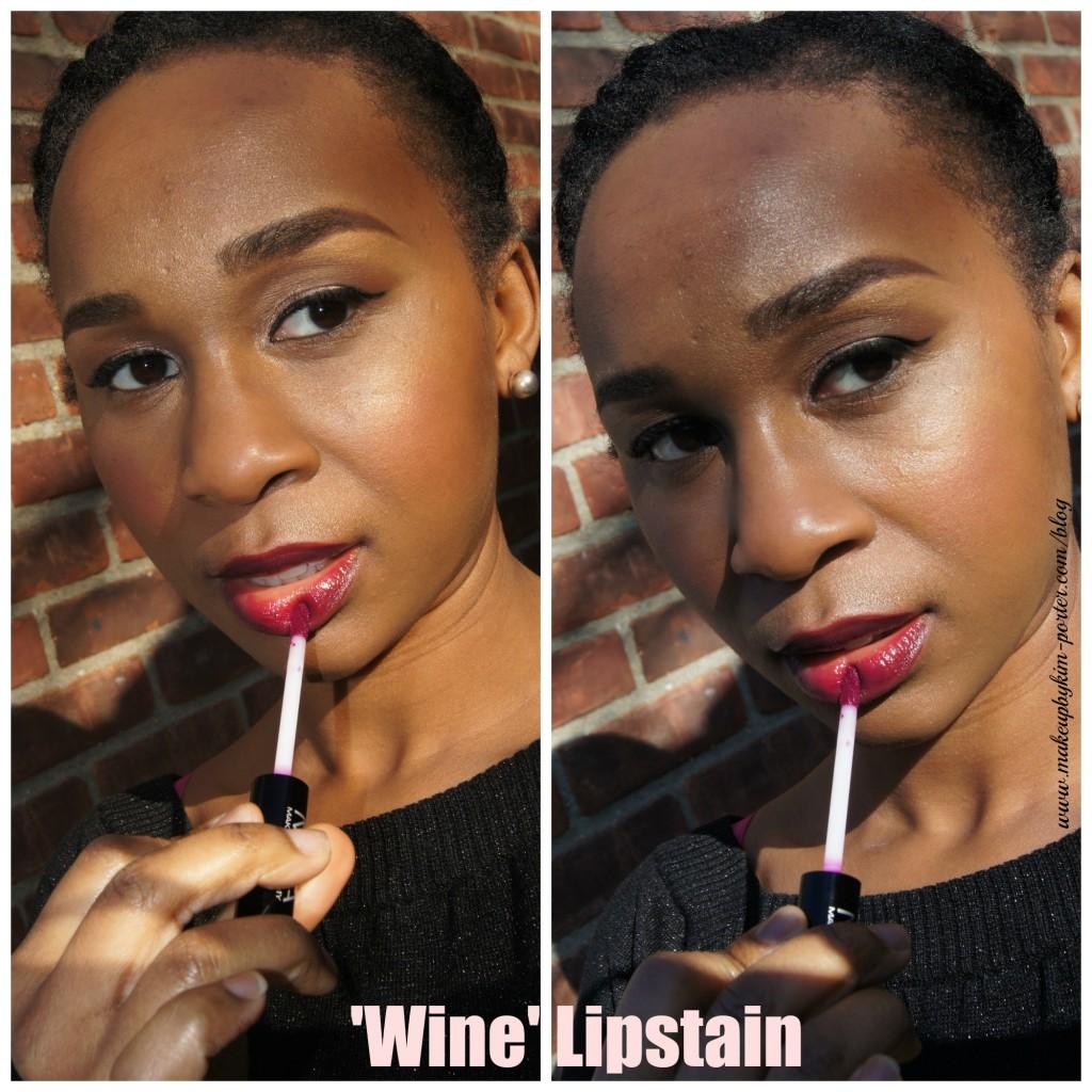 Holiday Lips MUA Makeup Academy Wine Lipstain
