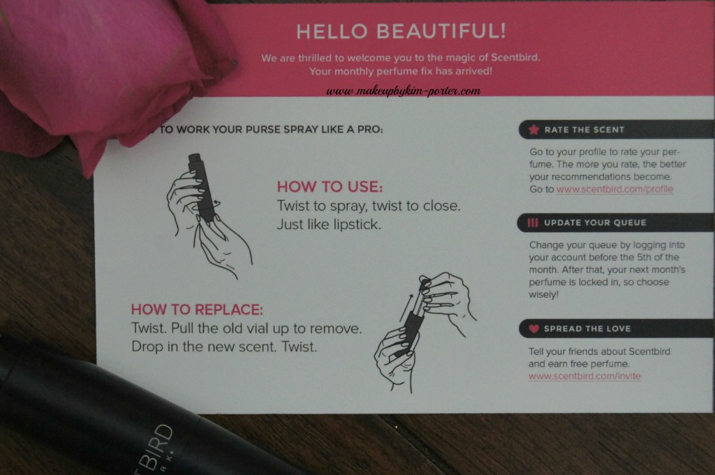Scentbird How to Use
