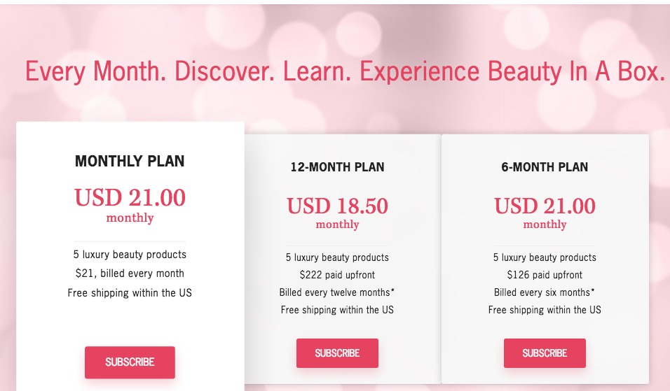 May Glossybox Subscription Prices